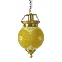 Chandni Gola Small  Energy Saver Brass Hanging Light