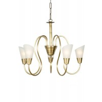 Modern Cone Antique Brass Chandelier