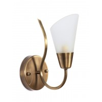 Modern Cone Antique Brass Single Wall Sconce