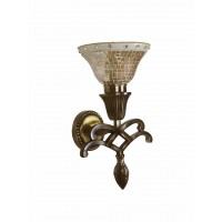 Sweeping Scroll Single Wall Sconce Lamp