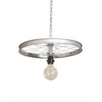 Bicycle Wheel Pendant Light