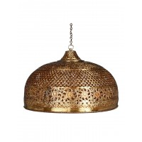 Hand Pierced Brass Doom Single Light Big Hanging