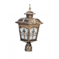 Londonderry Antique Golden Small Outdoor Gate Post Light