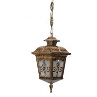 Londonderry Antique Golden Small Outdoor Aluminium Hanging Pendant Light