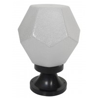 Diamond 8 Inches Polycarbonate Gate Light with Black Plastic Stand