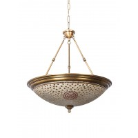 Dish Tilak Antique Brass 5 Light Hanging Light