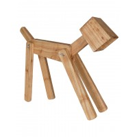 Wooden Dog-Shaped Adjustable Wooden Table Lamp, for Studyroom and nightstand and Office