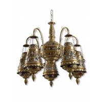Antique Finished Moroccan Brass Chandelier