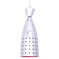 Chrome Red Small Hanging Light