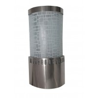 Cylinder Brick Patterned Chrome  Wall Light