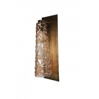 3D Faceted Tall Golden Conical Glass Shade Wall Lamp