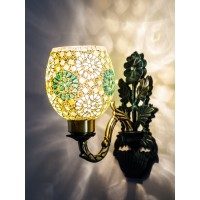 Flower Vase Green Single Wall Sconce