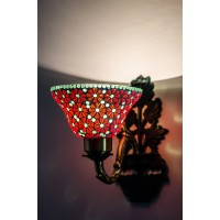 Vase red mosaic wall light