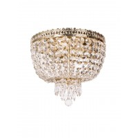 Metropolitan Crystal Golden 3 Light Flush Ceiling Light