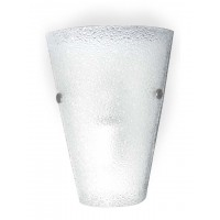 Textured Glass1074 Conical Wall Light