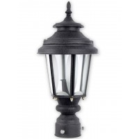Crinkle Black  Medium Exterior Gate Light