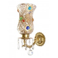 Bindi Single Brass & Crystal Sconce