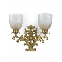 Guldasta Double Antique Brass Sconce