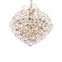 Golden Fountain Crysal Ball 3 Light Chandelier