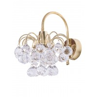 Golden Fountain Crystal Ball Wall Light