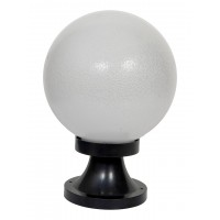Globe 8 Inches Polycarbonate Gate Light with Black Plastic Stand
