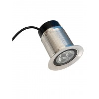 LED Ground Burial Stainless Steel 3 Watt 12V Warm White ( without Power Supply)