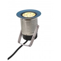 LED Ground Burial Stainless Steel Clamp 3 Watt 12V Warm White ( without Power Supply)