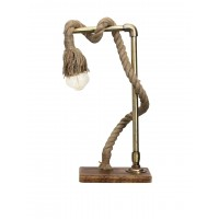 Jute Rope Barn Wood Table Lamp