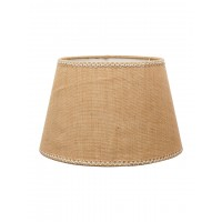 Jute Lace Classic Empire 14 Inches Light Brown Table Lampshade (for E27)