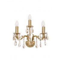 Candle Lamp Honey Crystal Triple Sconce