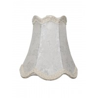 Small Ivory Scallop Bell Self Print 7 Inches Fabric Lampshade