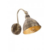 Fos Lighting Vintage Adjustable Hammered Antique Spot Wall Sconce