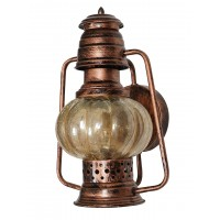 Wall Mounted Steel and Glass Lantern | Homedecor | Antique Copper Colour | Attractive Wall Light