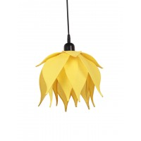 Auspicious Yellow Lotus Pendant Light
