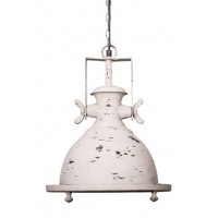 Marine Distressed White Industrial Pendant Light