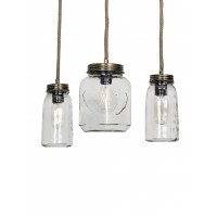 Mason Jar Trio Chandelier