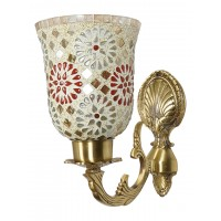 Meenakshi wall Light with Tilak Mosaic Glass Shades