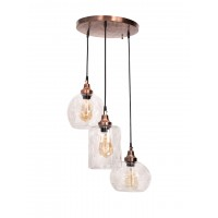 3 Drop Copper Pendant Light