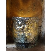 Owl Silver Tea Light Holder