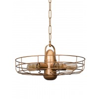 Vintage Fan 5 Light Pendant Light
