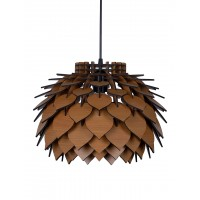 Pine Cone Beech Colored Laser Cut MDF 14 Inches Hanging Light