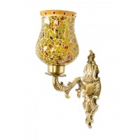 Priyanka Fiery Glass Ornate Single Wall Sconce