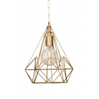 Wire Cage Diamond Golden Pendant Light