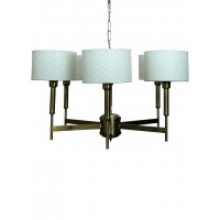 Contemporary Burnished Brass 6 Light French Chandelier