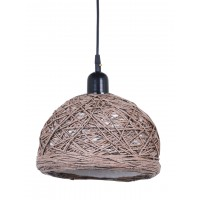 Brown 12 Inches String Bowl Pendant Lamp