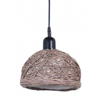 Brown 8 Inches String Bowl Pendant Lamp