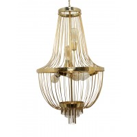 Modern Rod Basket Golden Chandelier