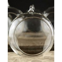 Bauble Globe Boro Glass Tea Light