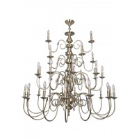 Classic 33 Light 3 Tier Antique Brass Finished Candelabra Chandelier