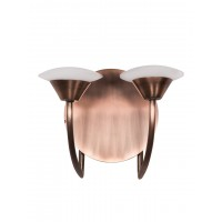 Modern Sweeping Copper Arms LED  2 Light Brass Wall Sconce